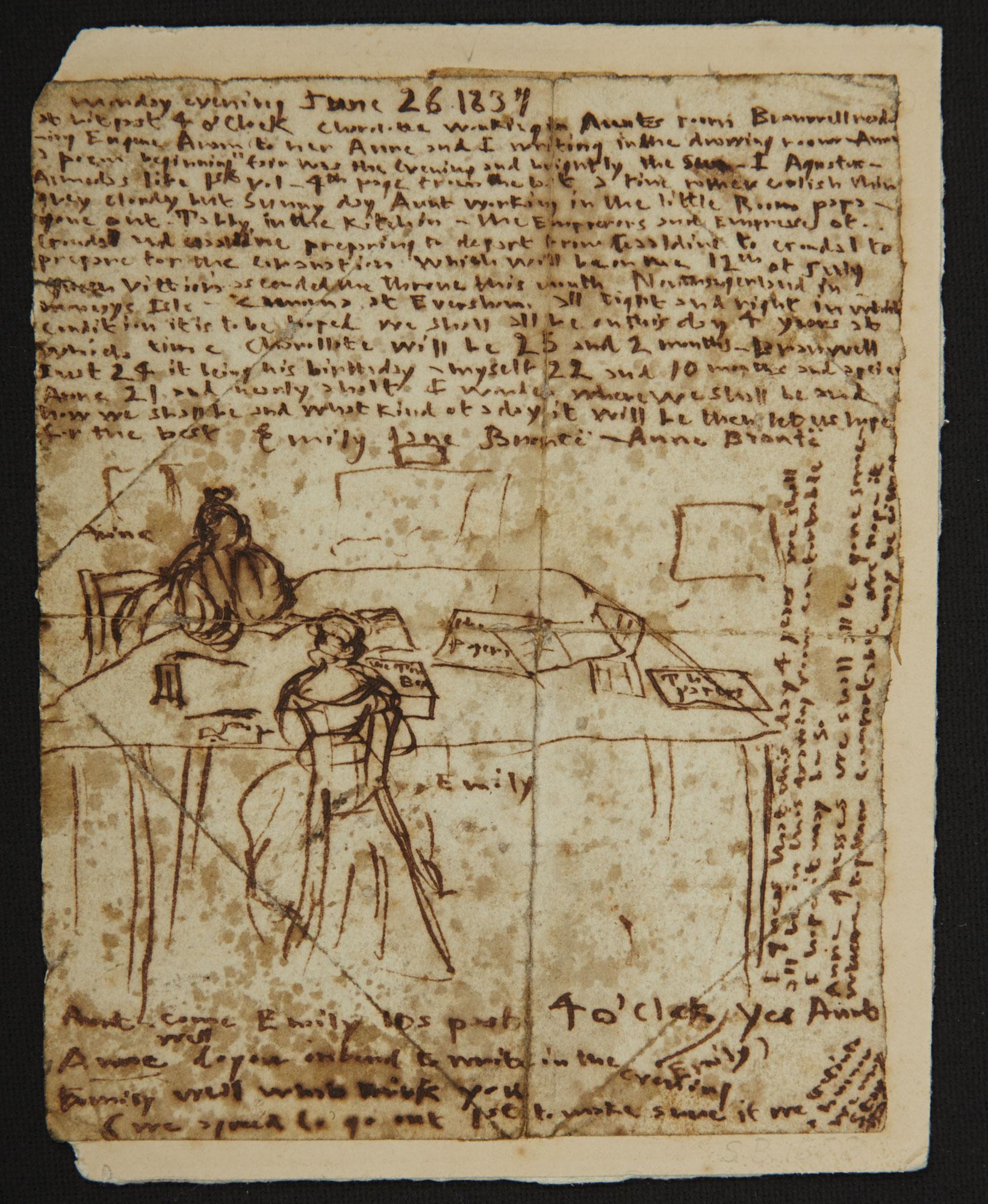 Emily Bronte's diary, 1837 [folio: 0]