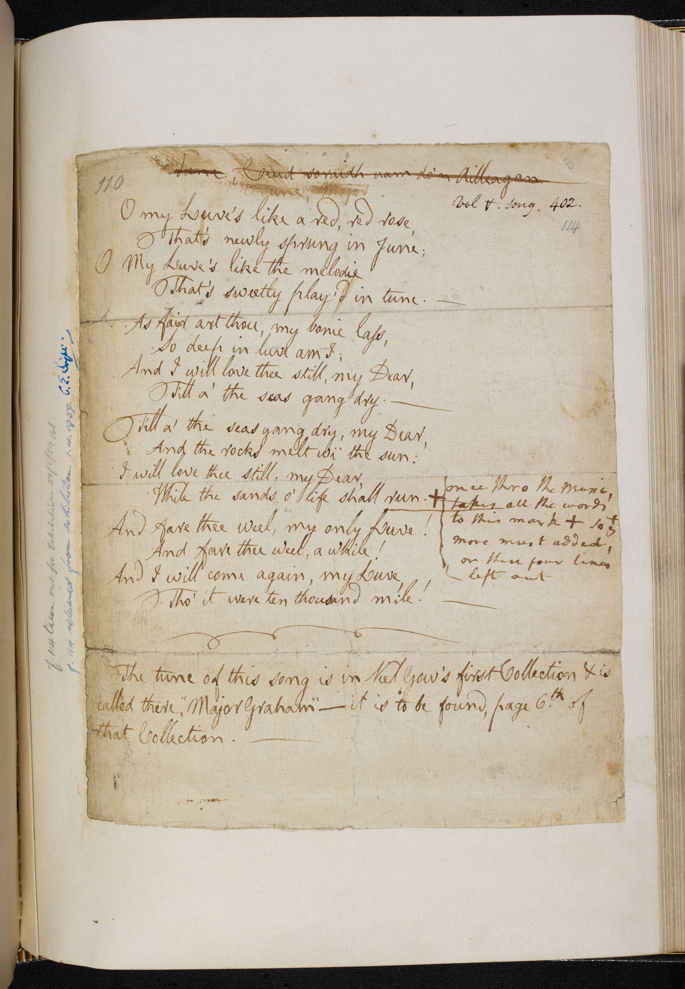 A Cargo Of Songs Robert Burns The Hastie Manuscript And The