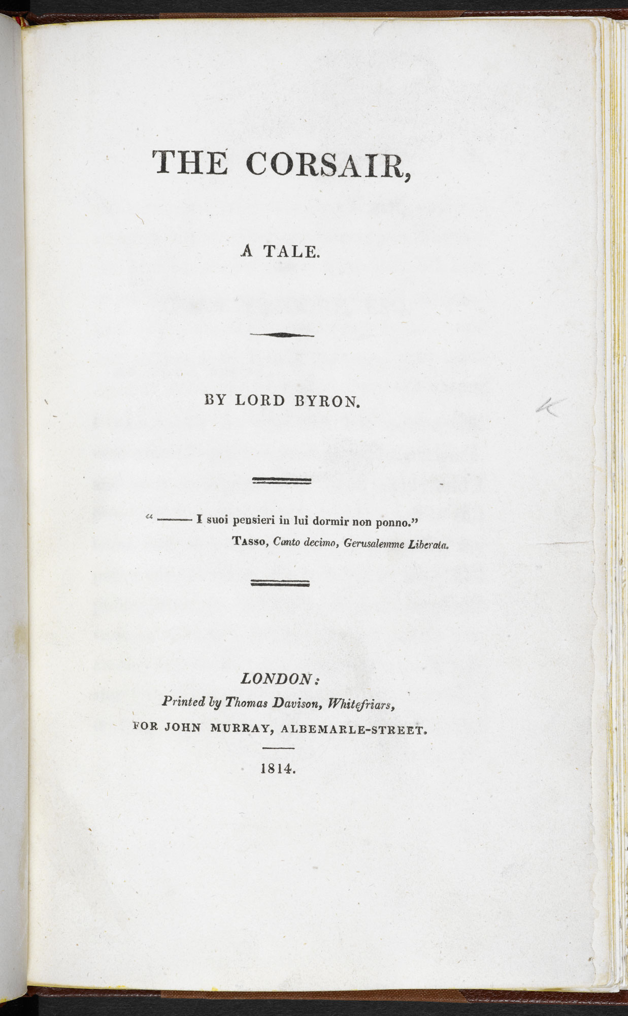 Extract from The Corsair by Byron [page: title page]