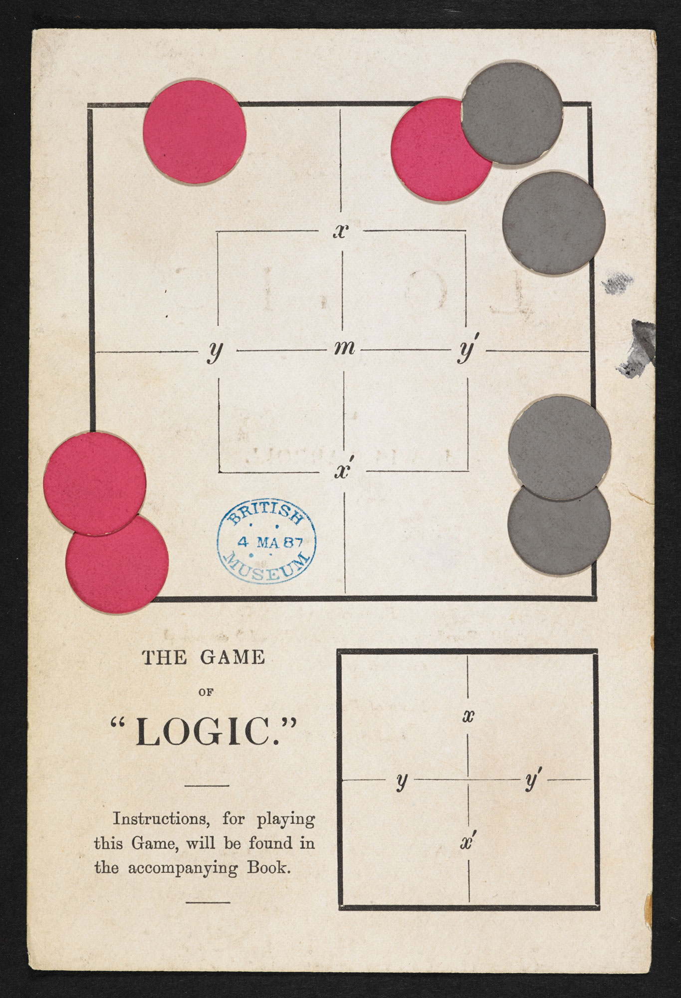 Lewis Carroll's The Game of Logic [page: back [board in envelope at back]]