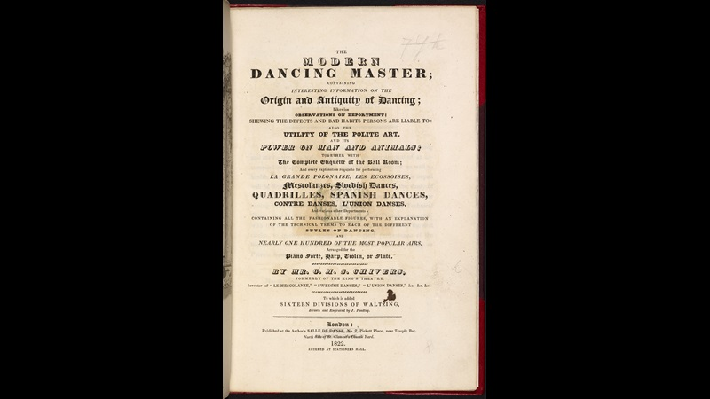 The Modern Dancing Master [page: frontispiece and title page]