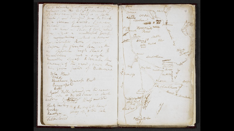 Samuel Taylor Coleridge, A Walking Tour of Cumbria [folio: 3v-4r]