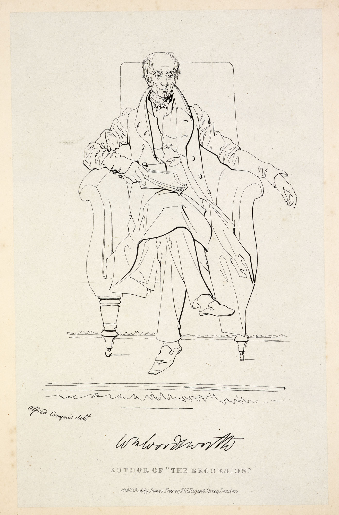 Cartoon portrait of William Wordsworth [page: no. XXXIV]