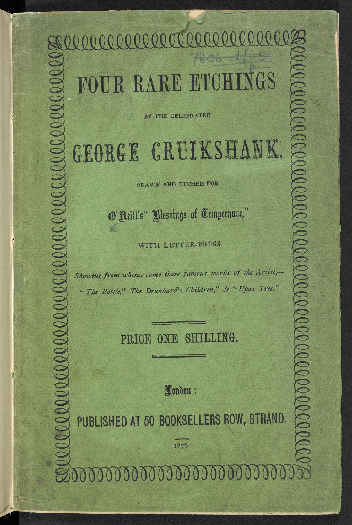 Four illustrations about temperance  by George Cruikshank [page: front cover]