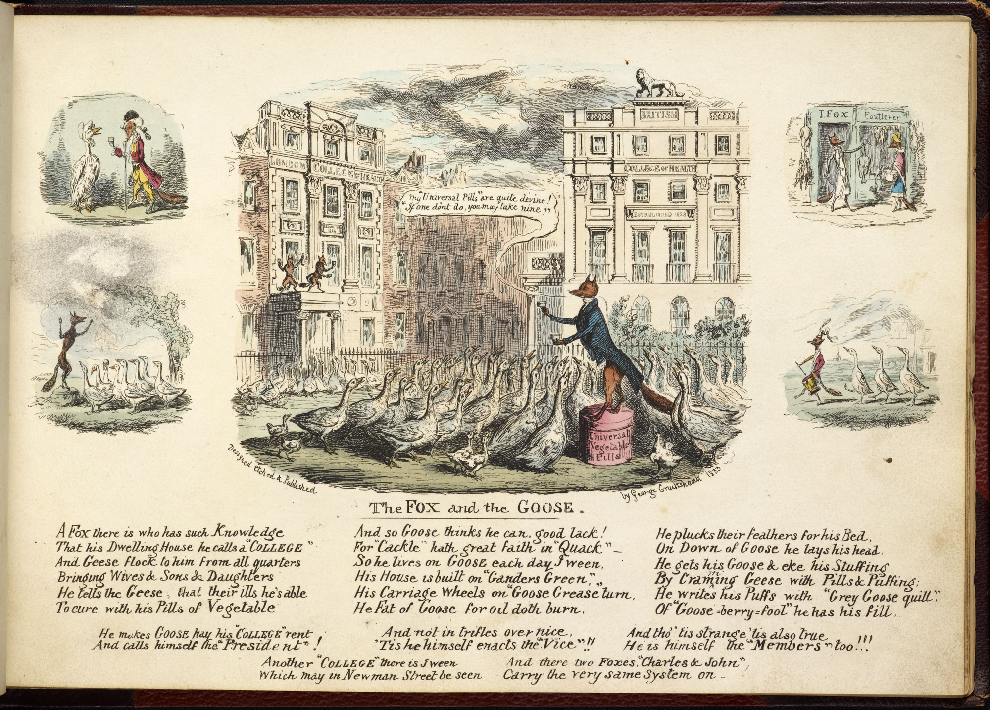 The Fox and the Goose' from My Sketch Book by George Cruikshank [page: ['The Fox and the Goose']]