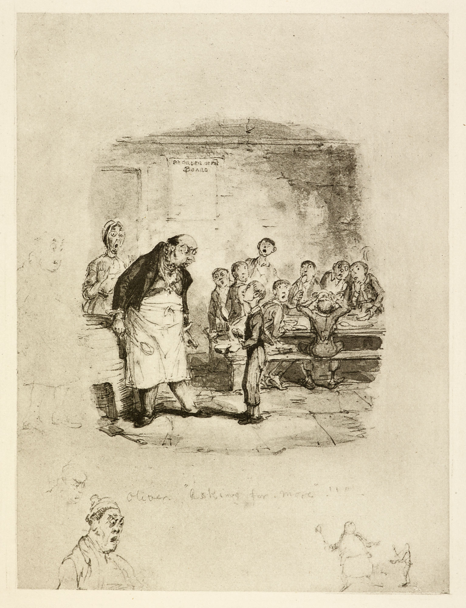 Oliver Asking for More' by George Cruikshank [page: 91]