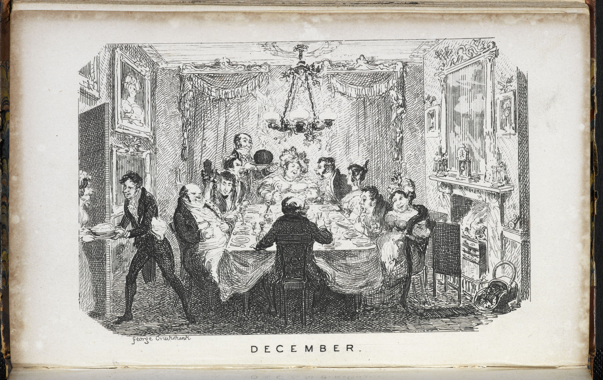 ca9876e354249 ... Sketches illustrating the months by George Cruikshank  page     December