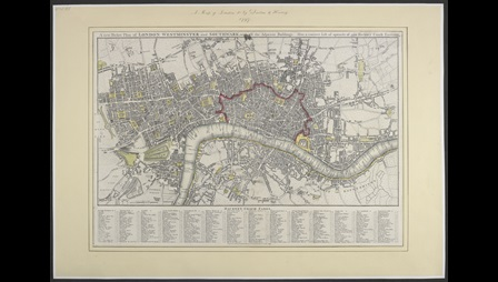 Map of London, showing where William Blake lived [page: 0]