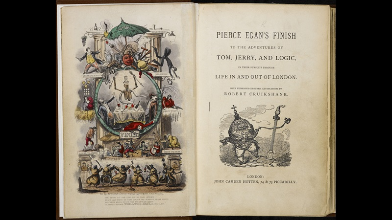 Pierce Egan's Finish to the Adventures of Tom, Jerry, and Logic in their pursuits through life in and out of London [page: frontispiece and title page]