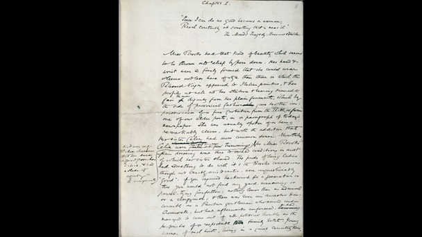 Manuscript of George Eliot's Middlemarch [folio: 5r]