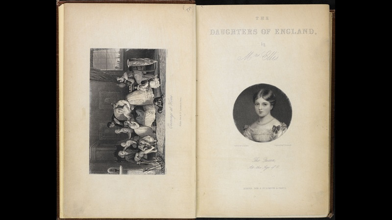 The Daughters of England by Sarah Stickney Ellis [page: frontispiece and title page]