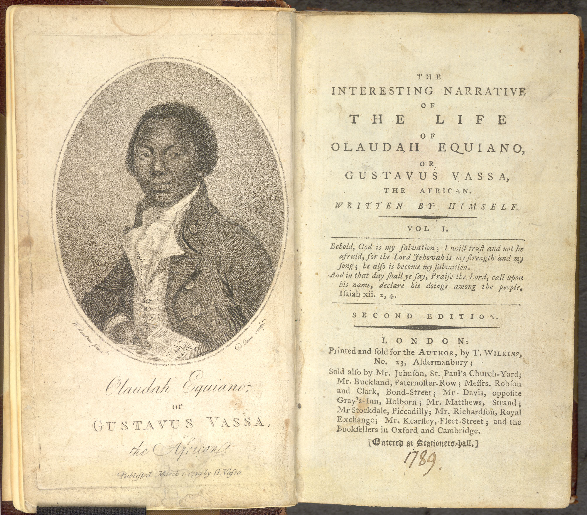 The Life of Olaudah Equinao [page: frontispiece and title page]