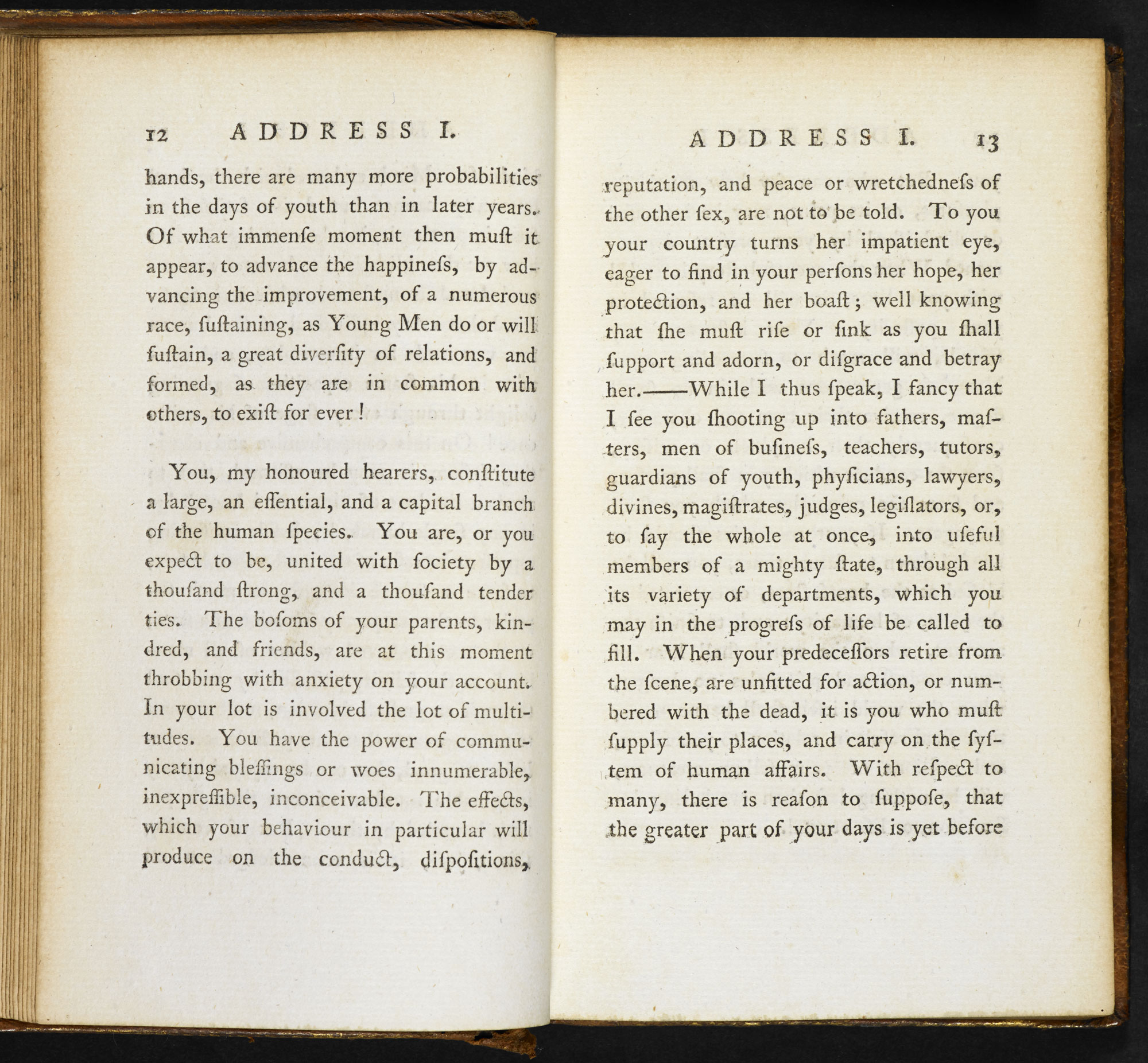 Addresses to Young Men [page: vol. I pp. 12-13]