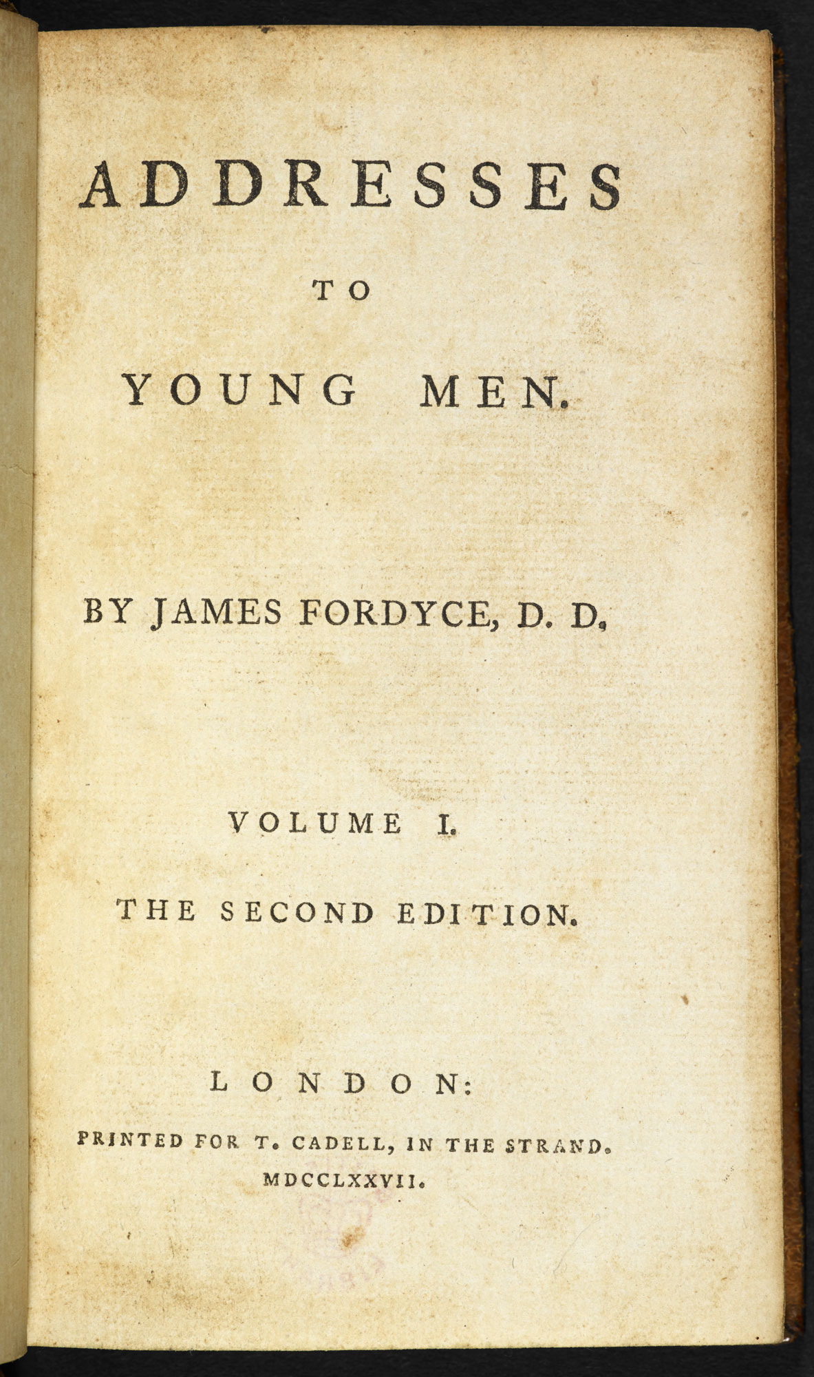 Addresses to Young Men [page: vol. I title page]