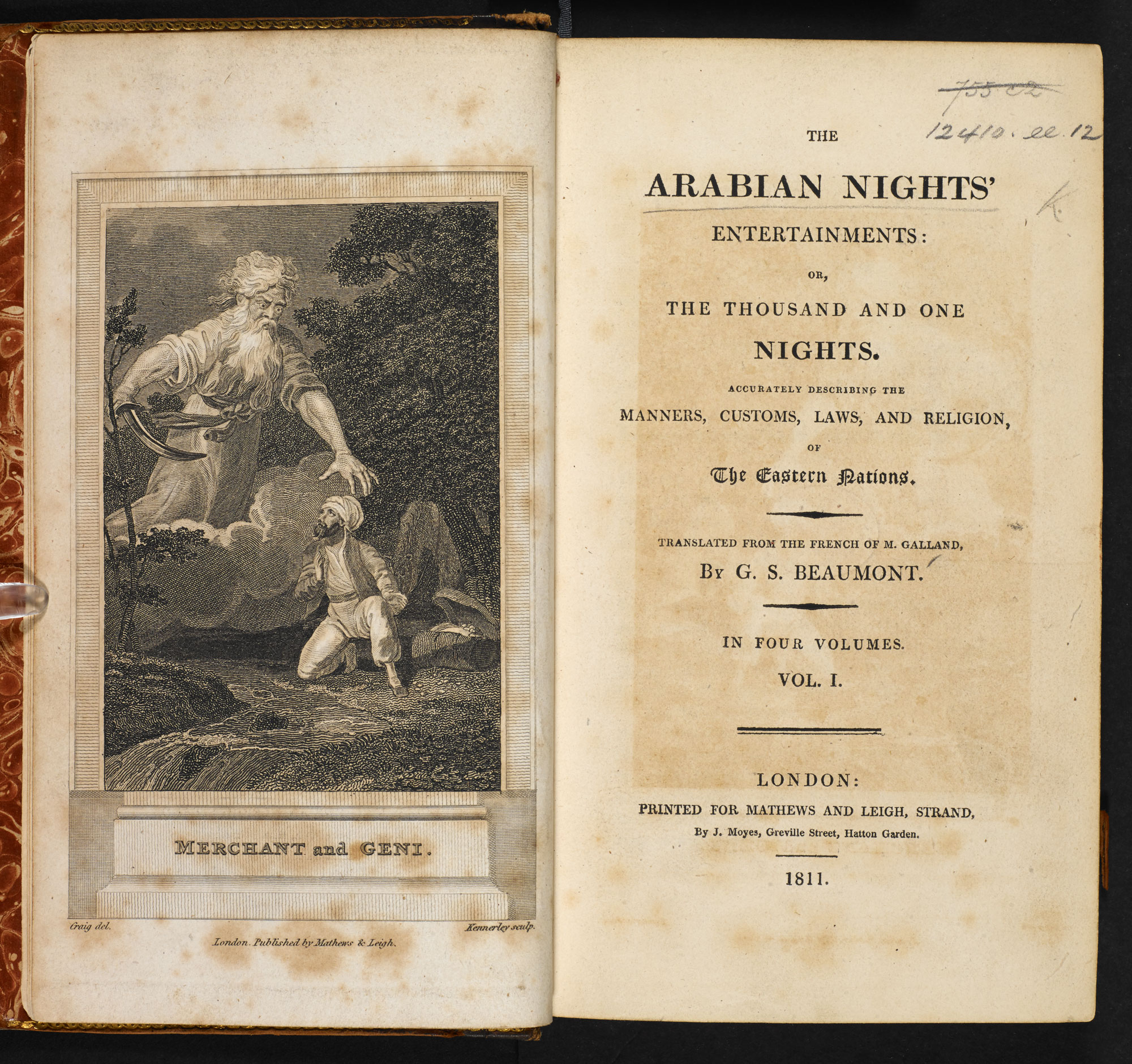 The Arabian Nights Entertainments [page: vol. 1 frontispiece and title page]