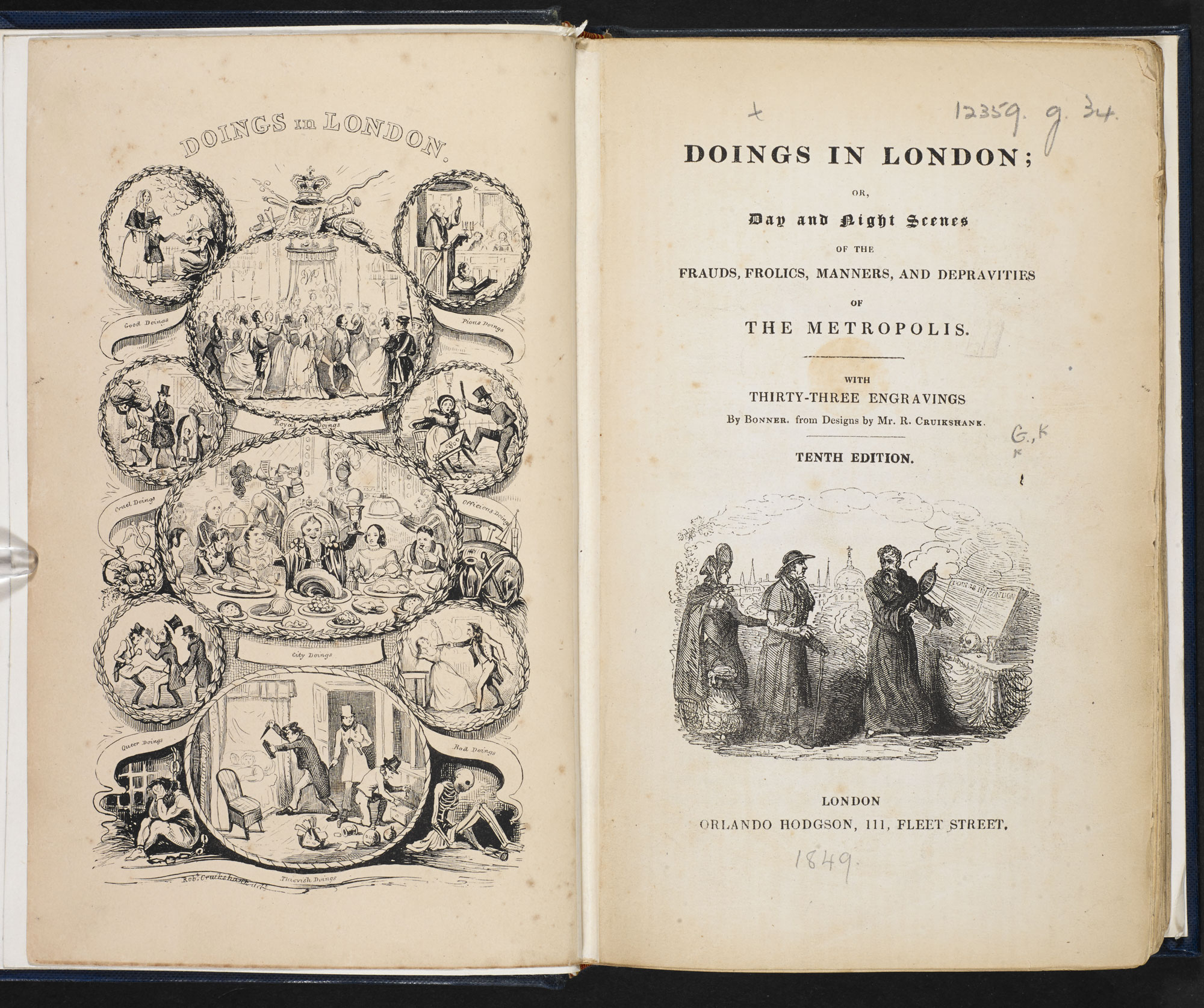 Doings in London [page: frontispiece and title page]
