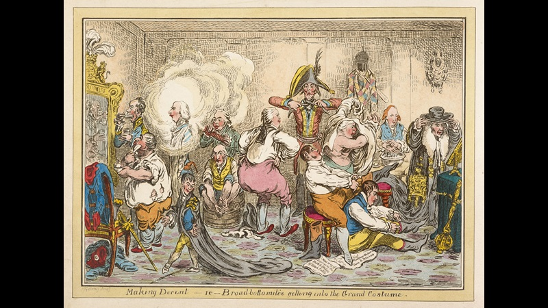 Making Decent' by Gillray [page: facing p. 11]