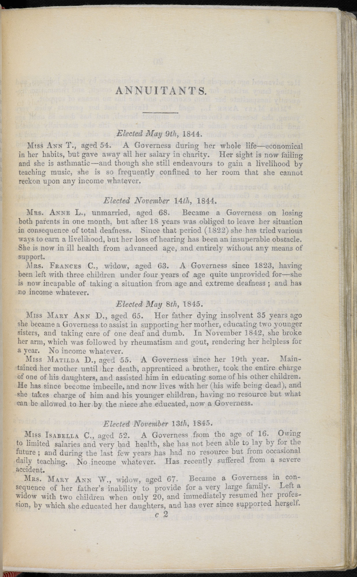 Reports from the Governesses' Benevolent Institution [page: Year 1847 p. [19]]
