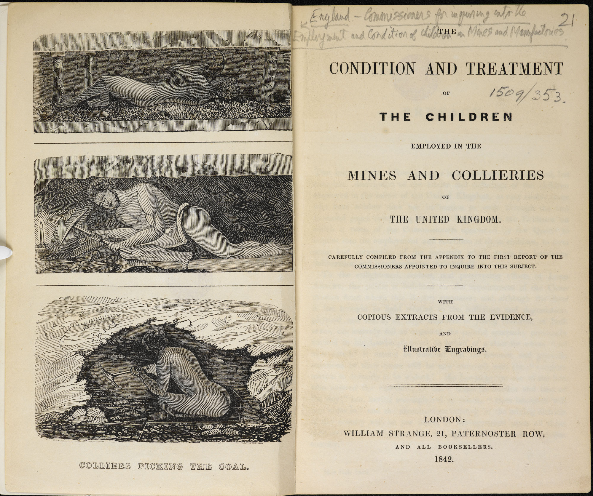 Report on child labour, 1842 [page: frontispiece and title page]