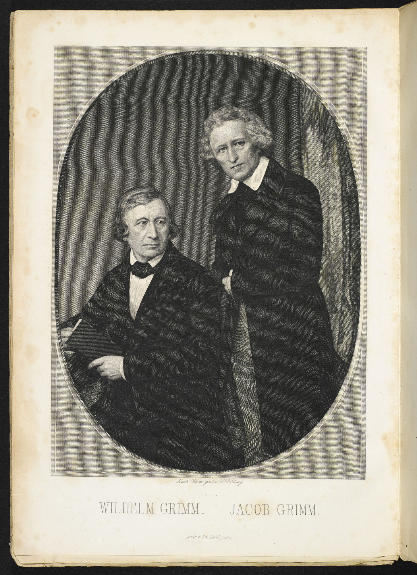 Portrait of the brothers Grimm [page: frontispiece]
