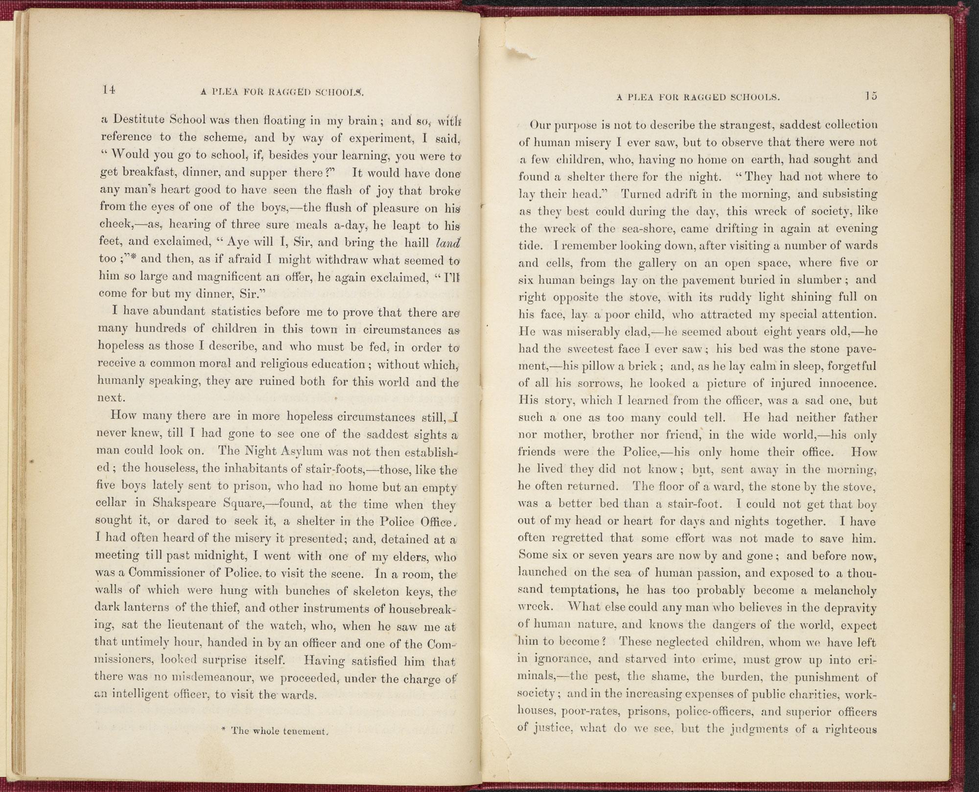 A plea for Ragged Schools [page: 14-15]