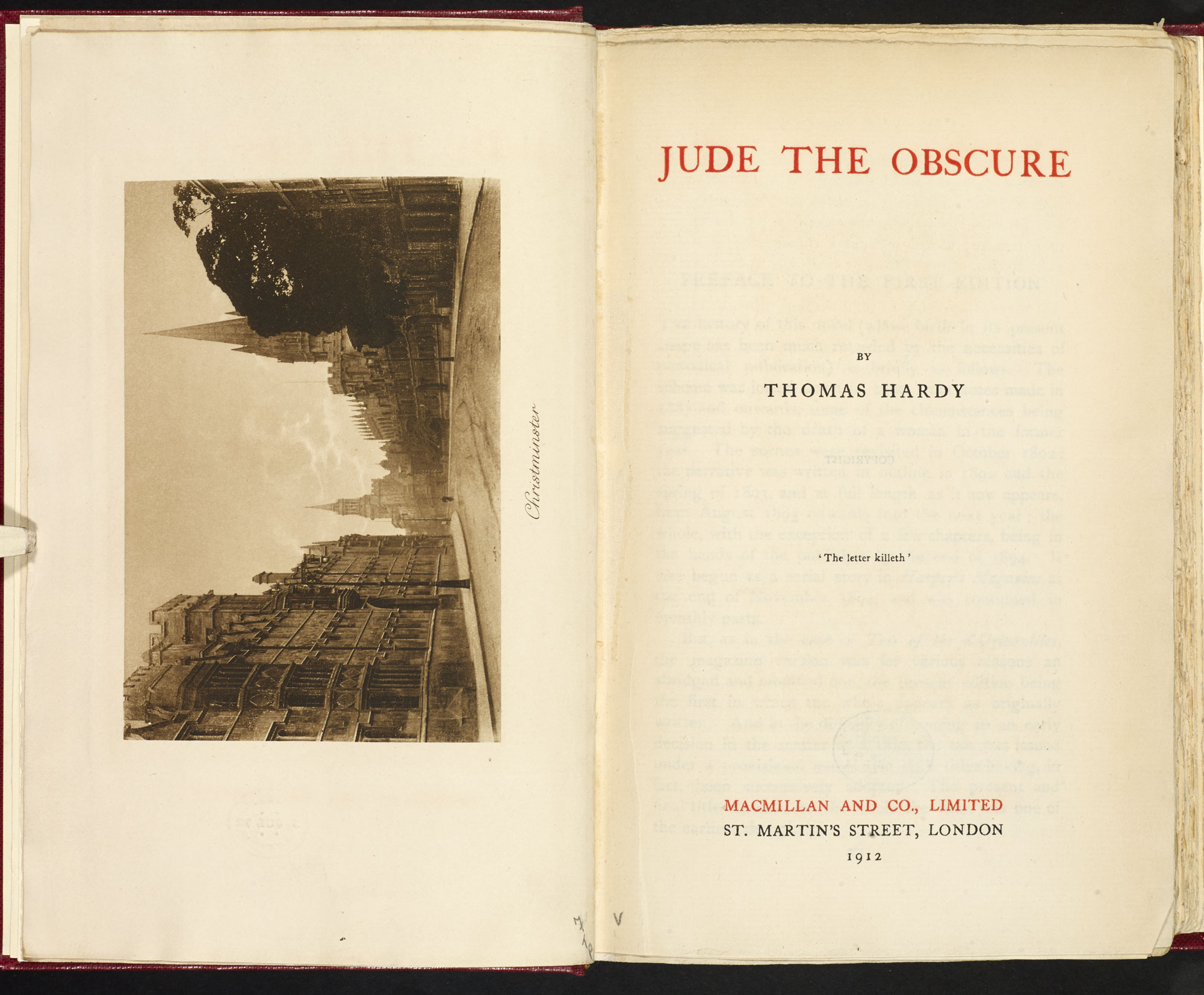 Jude the Obscure by Thomas Hardy [page: frontispiece and title page]