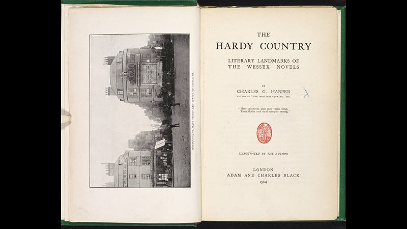 The Hardy Country [page: frontispiece and title page]
