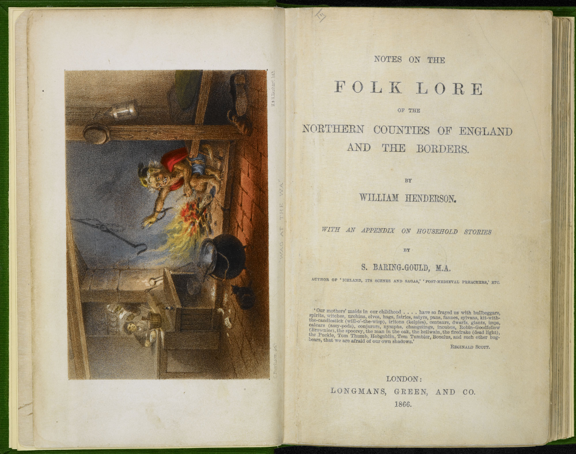 Notes on the Folk Lore of the Northern Counties of England and the Borders [page: frontispiece and title page]