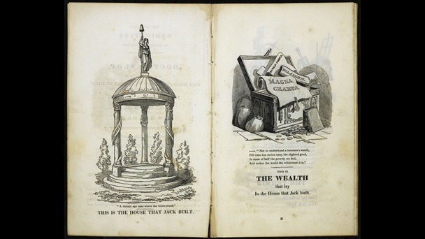 The Political House that Jack Built, a radical political satire by William Hone and George Cruikshank [page: ['The House that Jack Built' and 'The Wealth']]