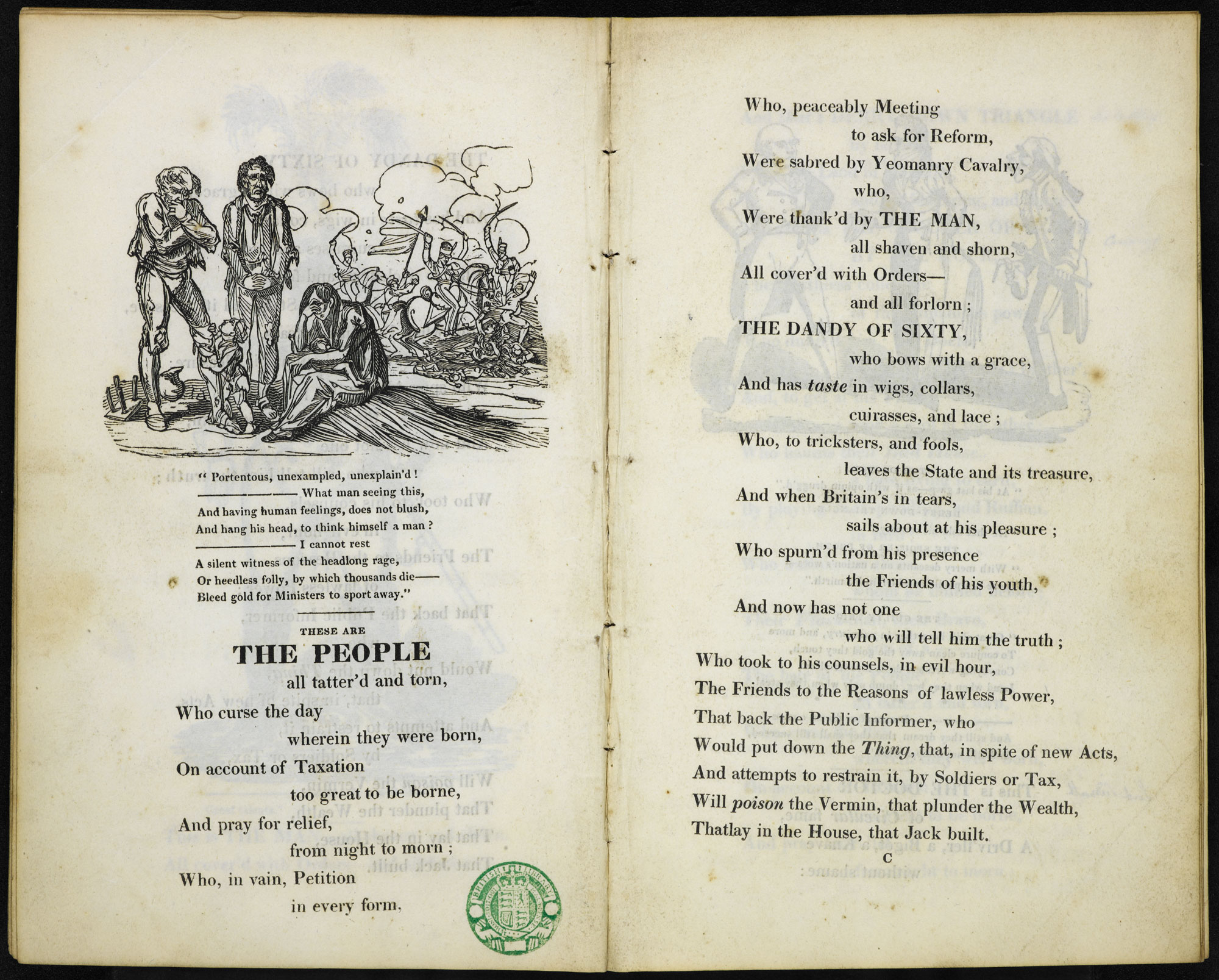 The Political House that Jack Built, a radical political satire by William Hone and George Cruikshank [page: ['The People' and facing]]