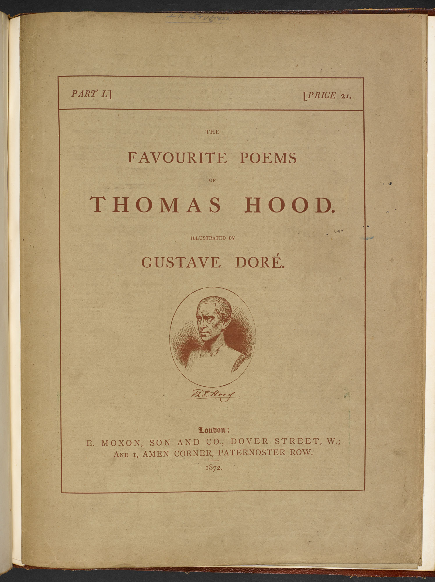 The Favourite Poems of Thomas Hood, with illustrations by