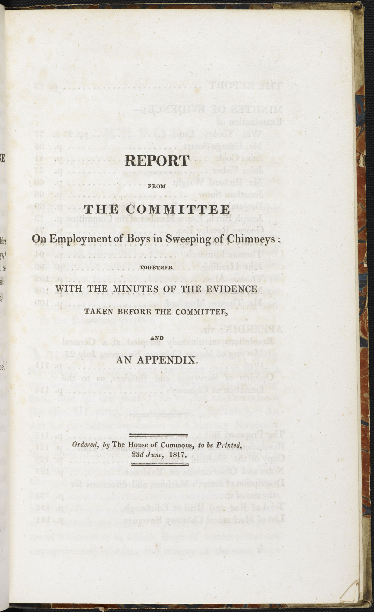 Report into employing boys as chimney sweeps [page: 15]