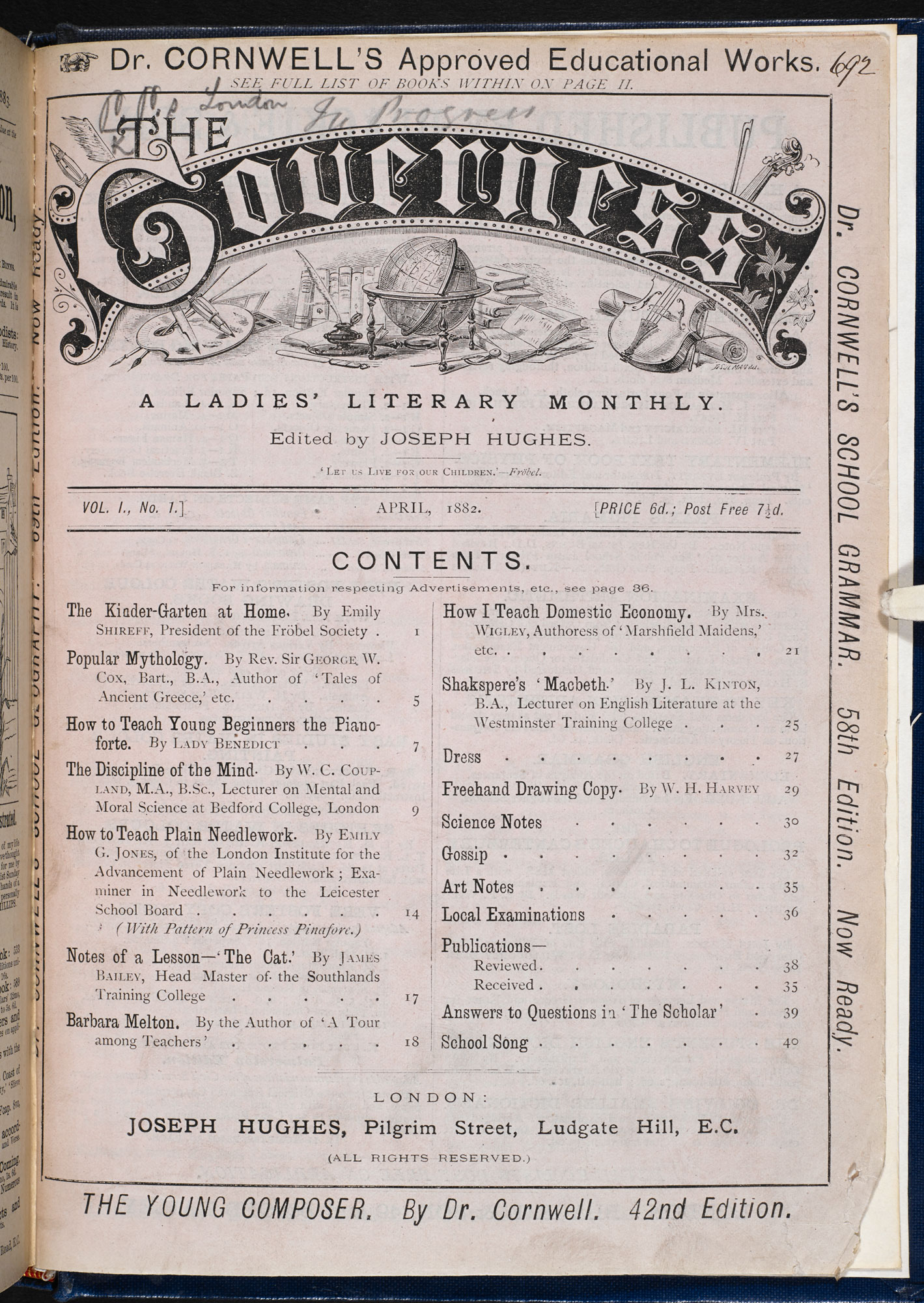 Magazine for governesses and women teachers [page: title page [inserted at end]]