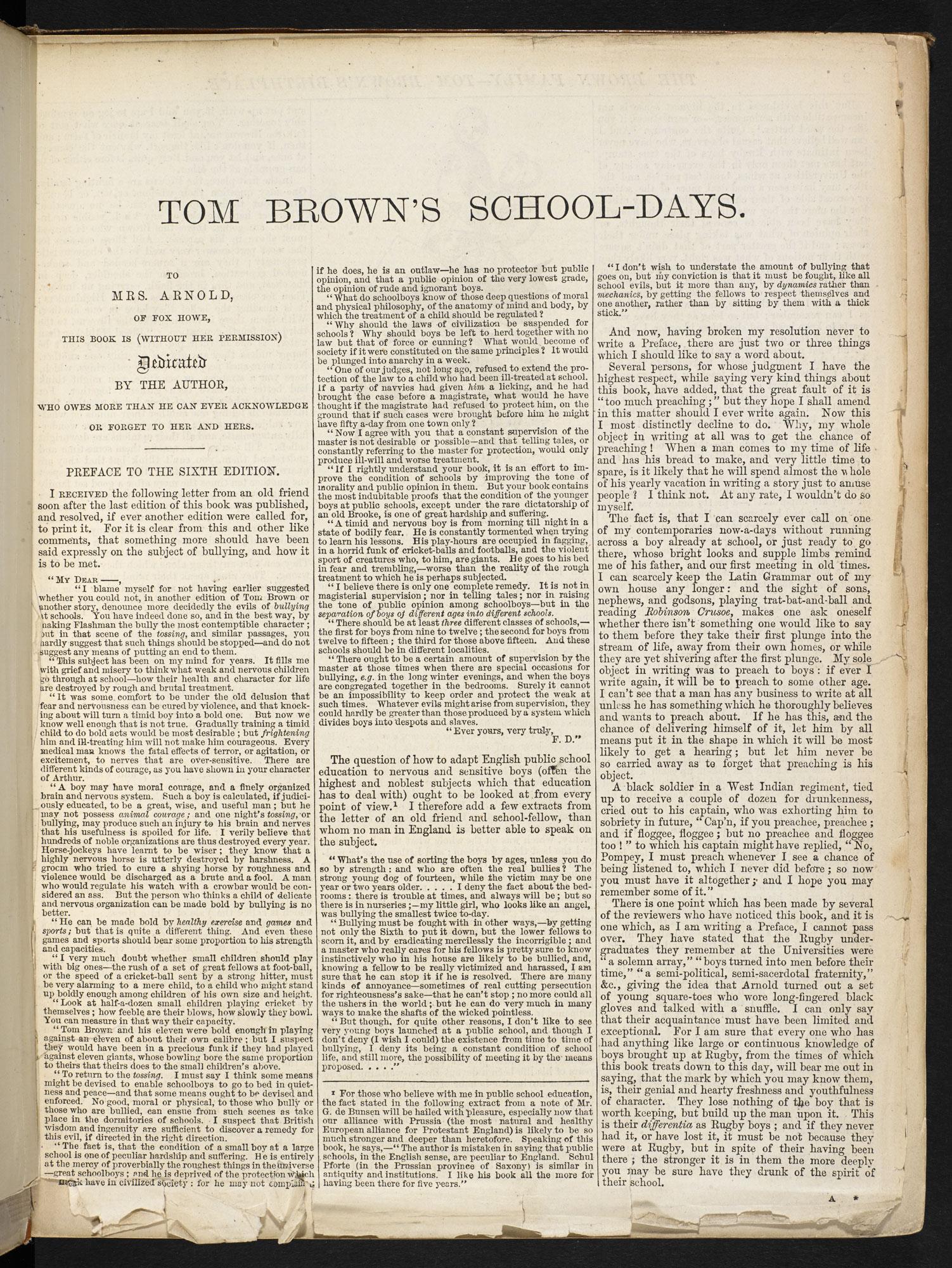 Tom Brown's Schooldays [page: 1]