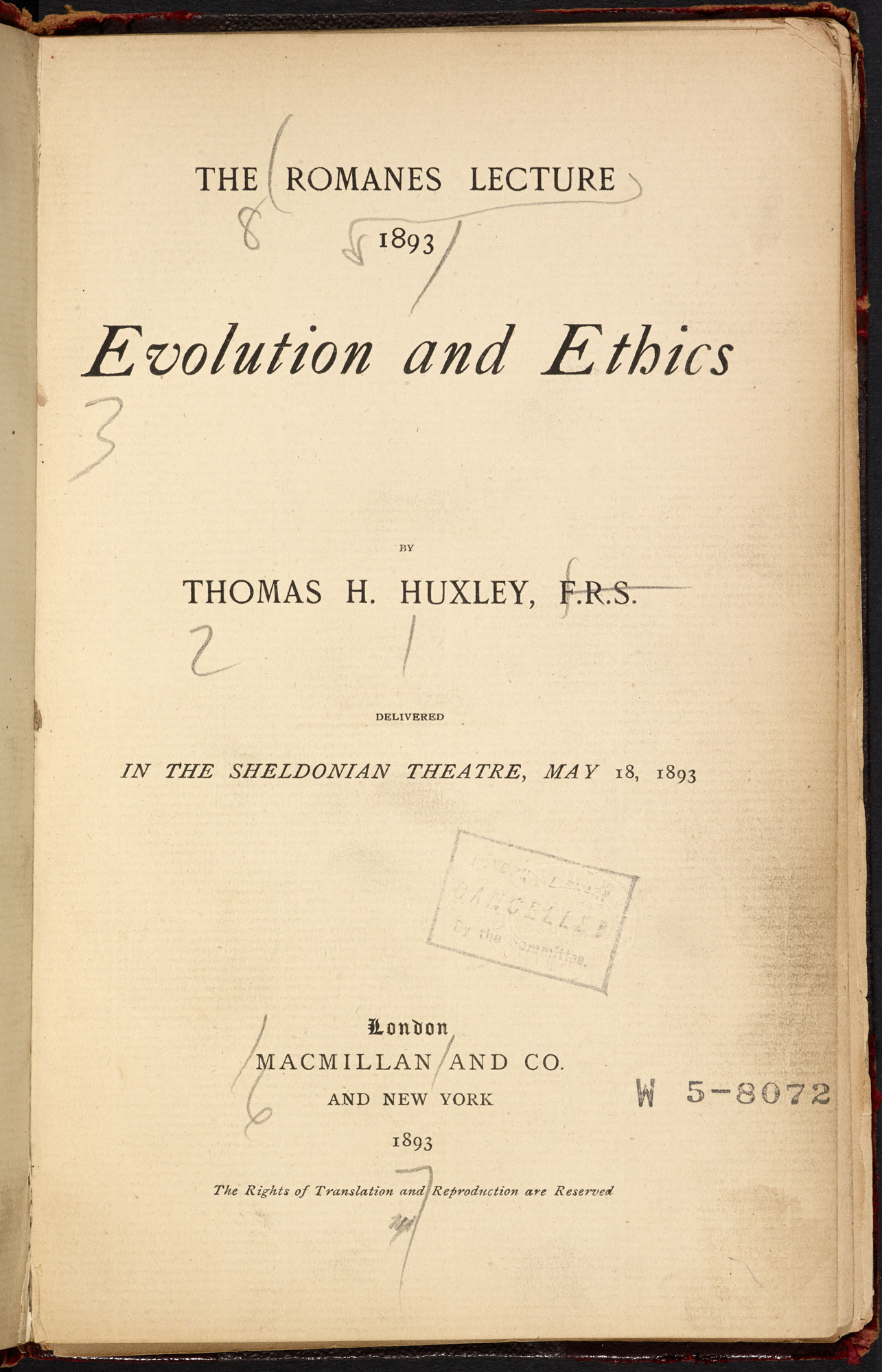 Evolution and Ethics [page: title page]