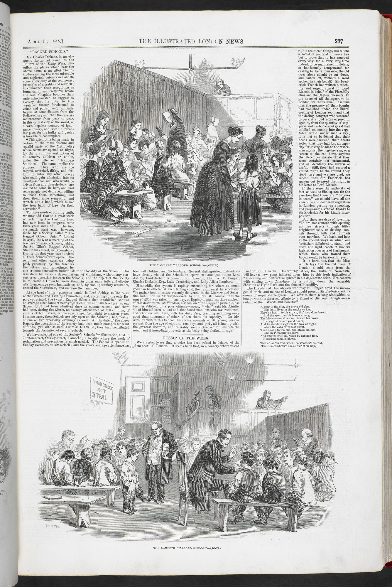 'Ragged Schools', from Illustrated London News [page: 237]