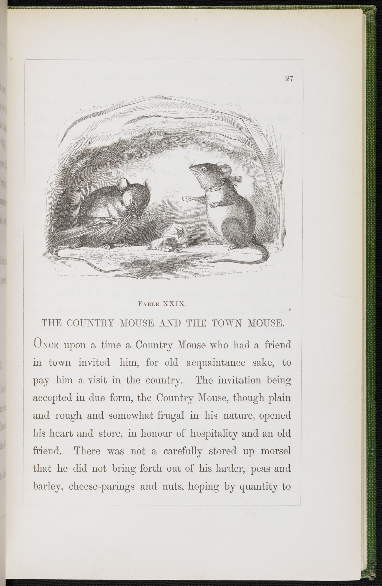 1848 edition of Aesop's Fables illustrated by John Tenniel  [page: 27]