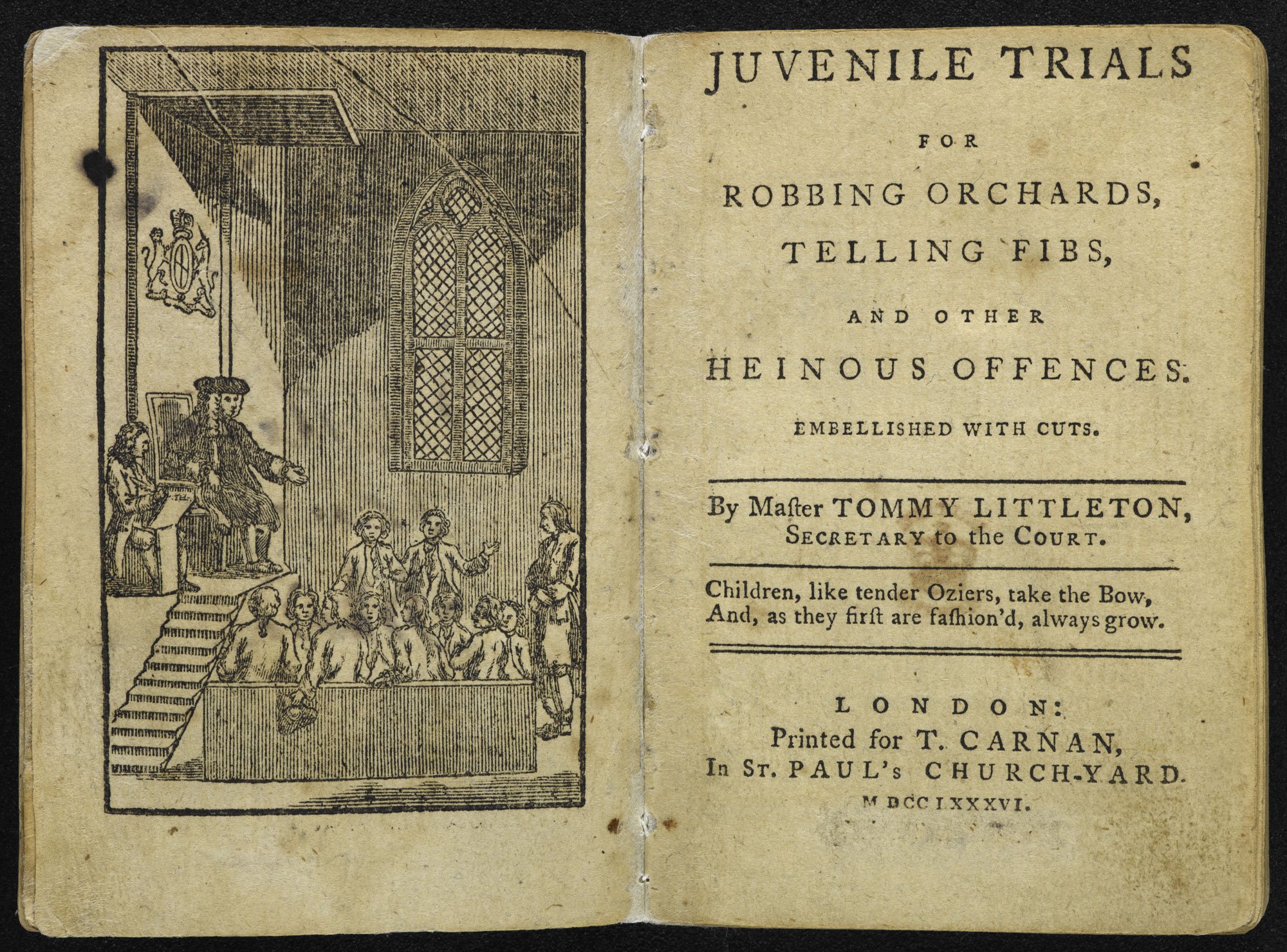 Juvenile Trials [page: frontispiece and title page]