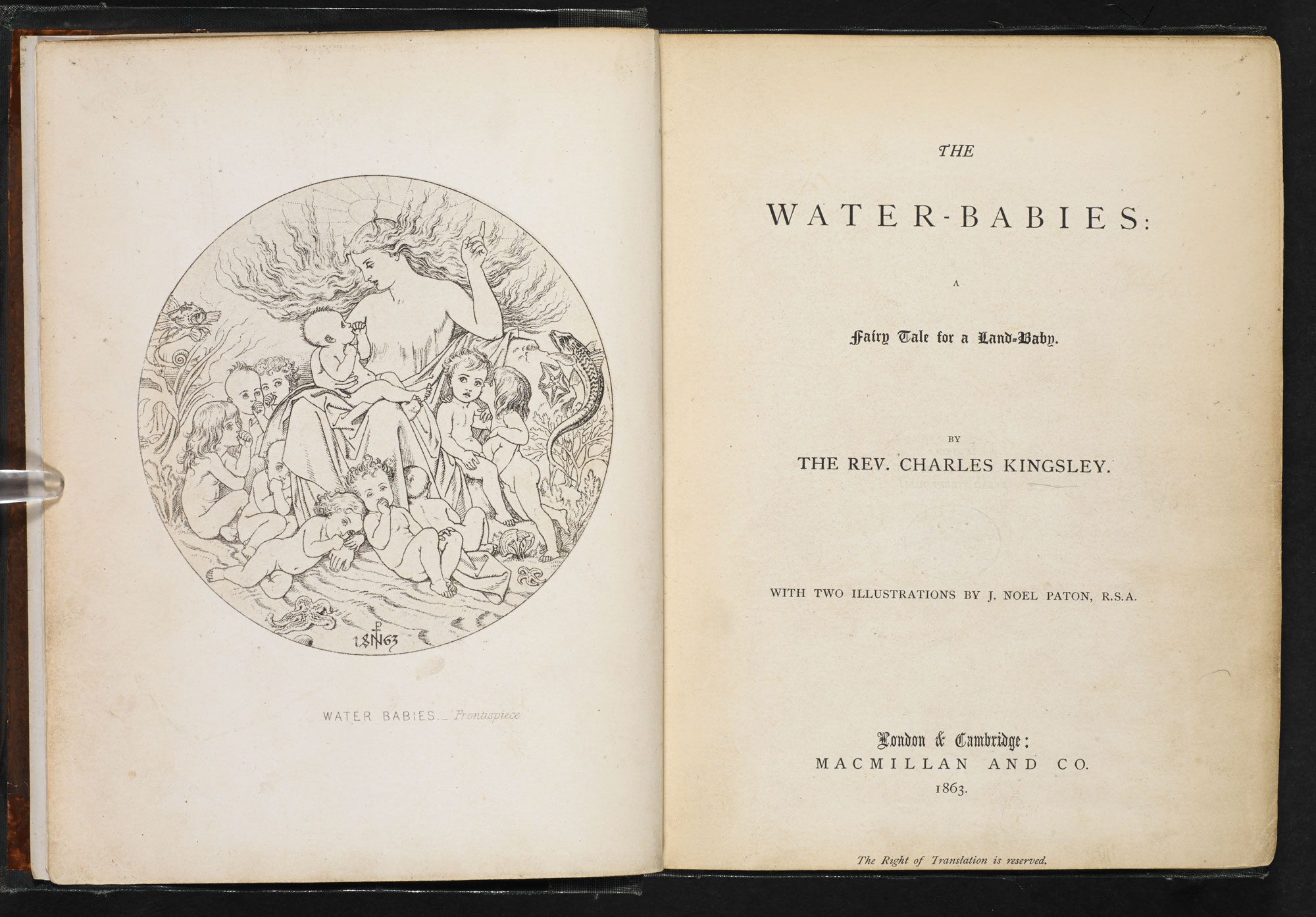 Charles Kingsley's The Water-Babies [page: frontispiece and title page]