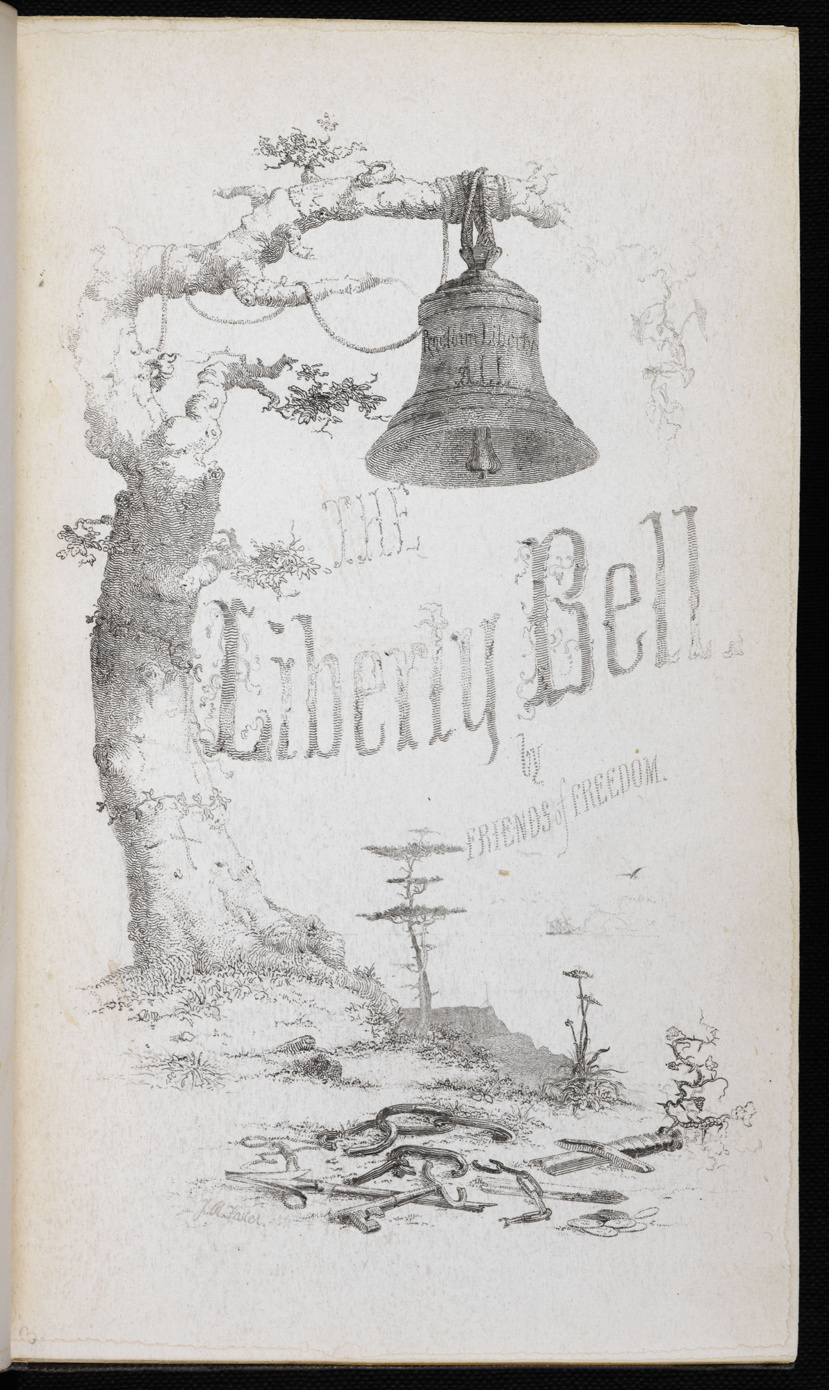 Amercan abolitionist literature magazine [page: Year MDCCCXLV p. 209]