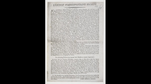 Account of a London Corresponding Society meeting [page:single sheet]