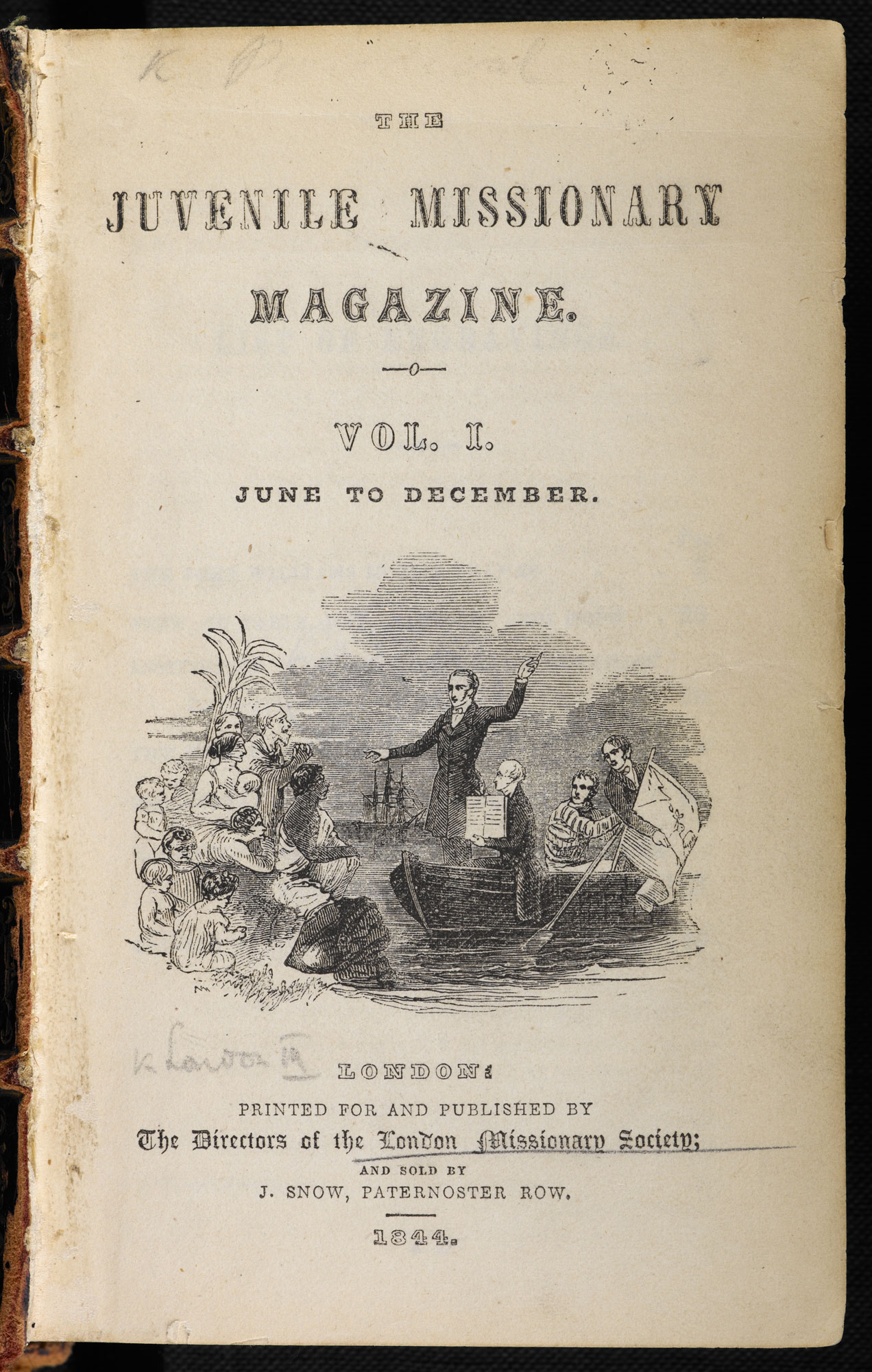 Missionary magazine for children [page: vol. I title page]