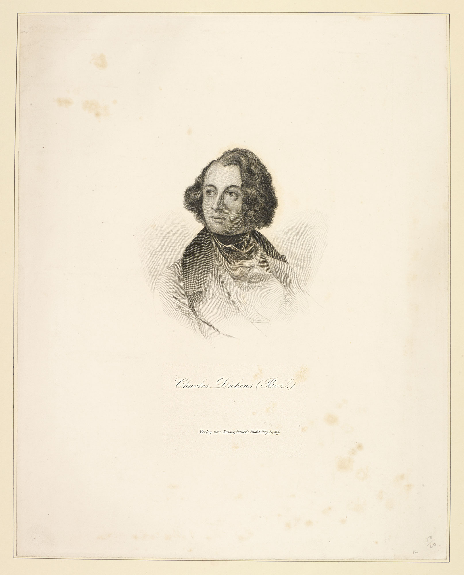 Reproduction of a portrait of Charles Dickens by Daniel Maclise [page: 33]