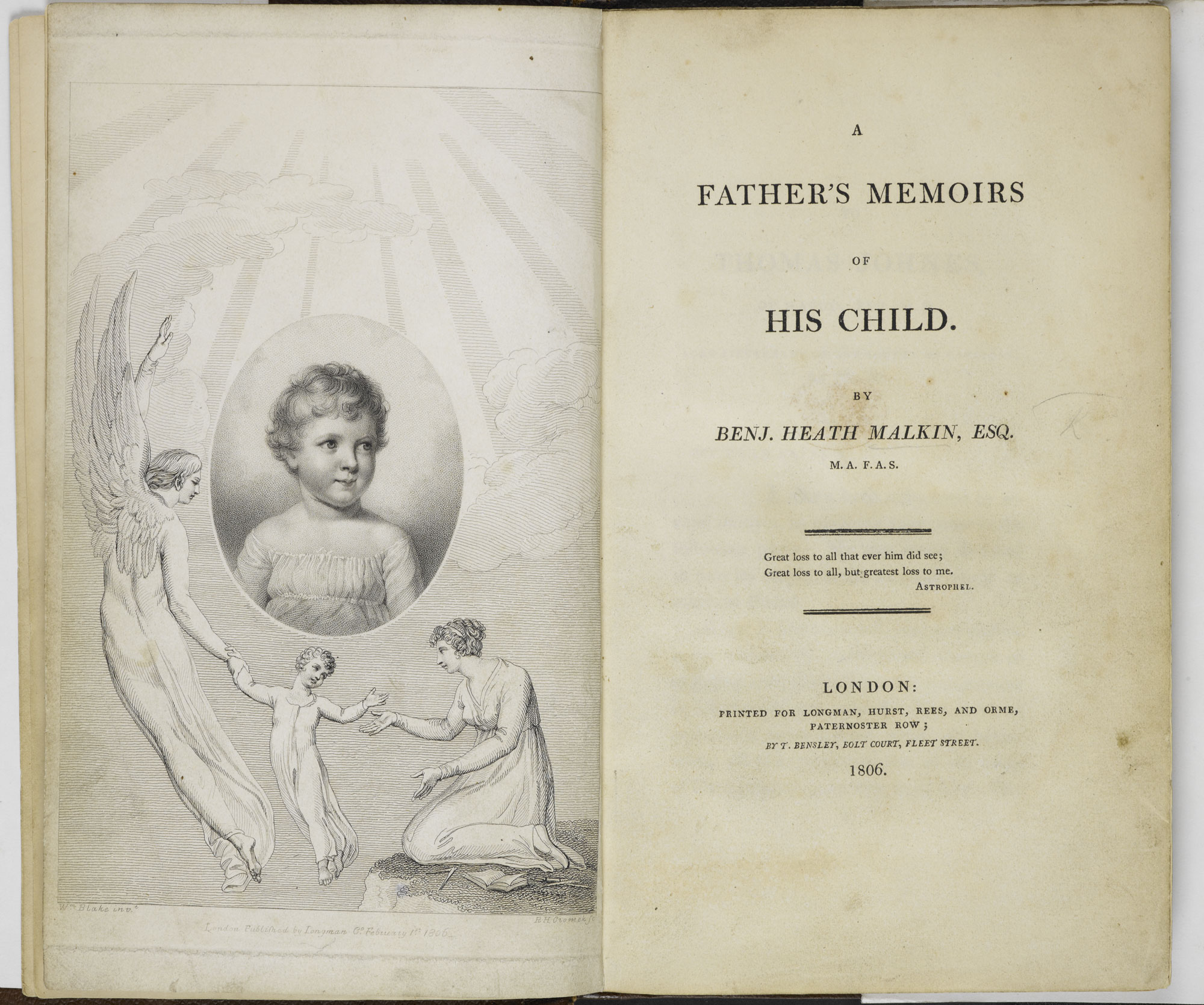 A Father's Memoir of his Child [page: frontispiece and title page]