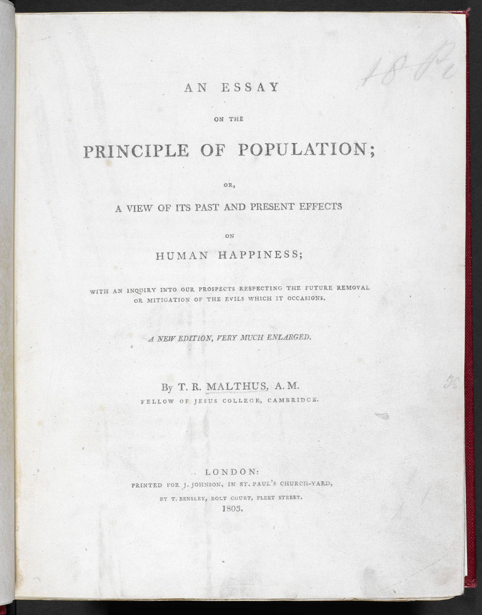 Malthus' Principle of Population [page: title page]