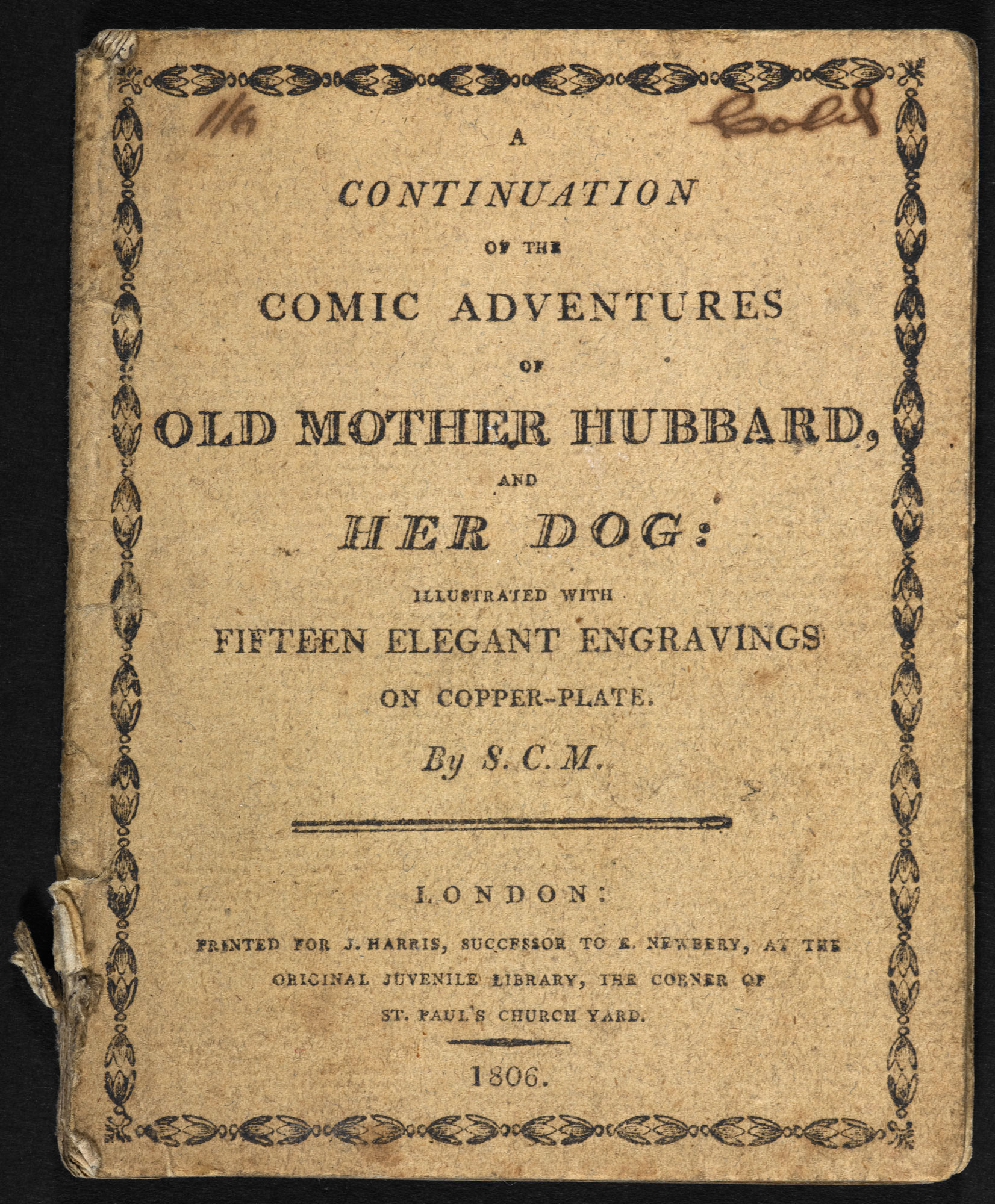 Old Mother Hubbard chapbook [page: front cover]