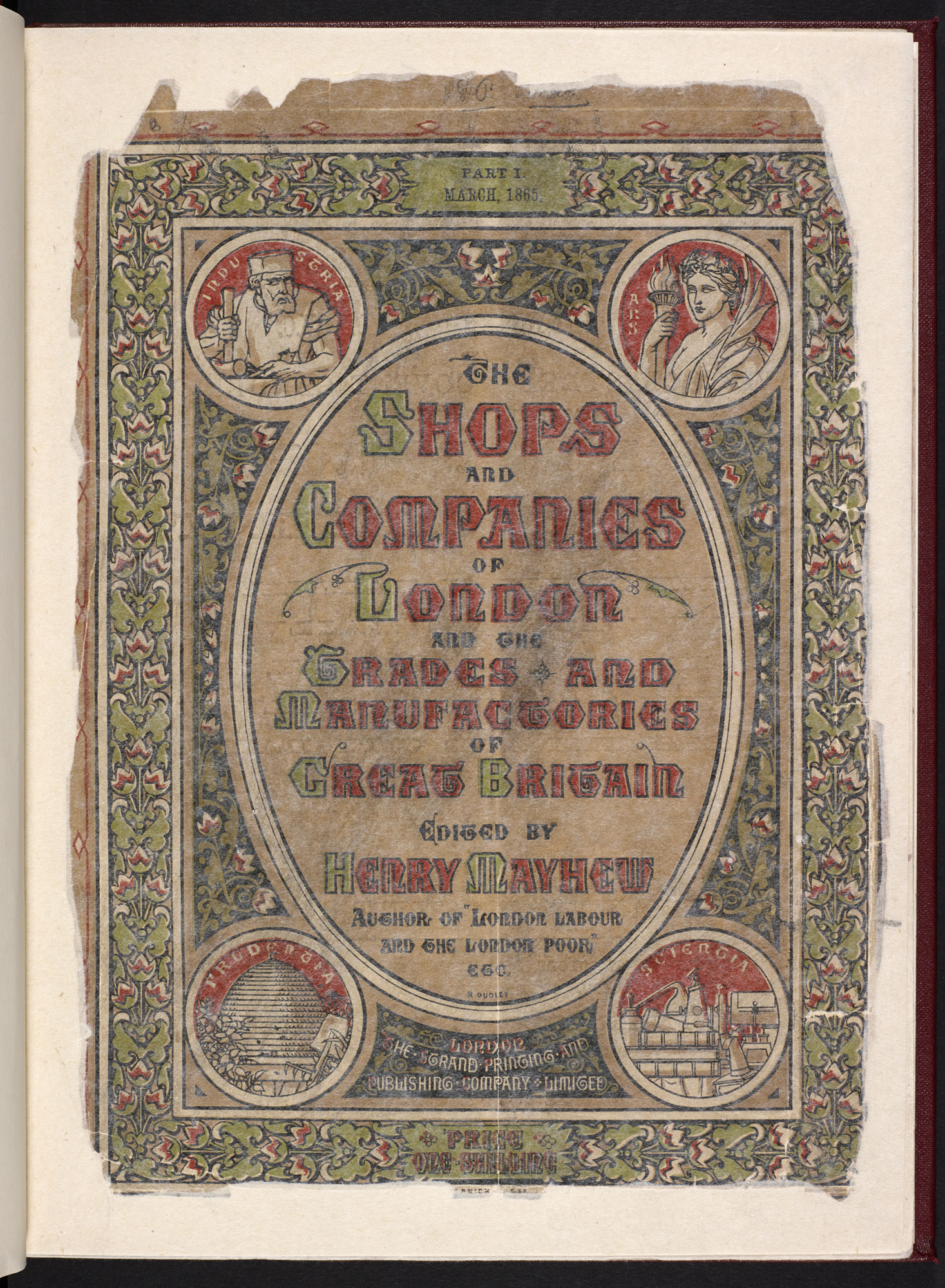 Henry Mayhew's guide to shops, companies and industries [page: front cover]