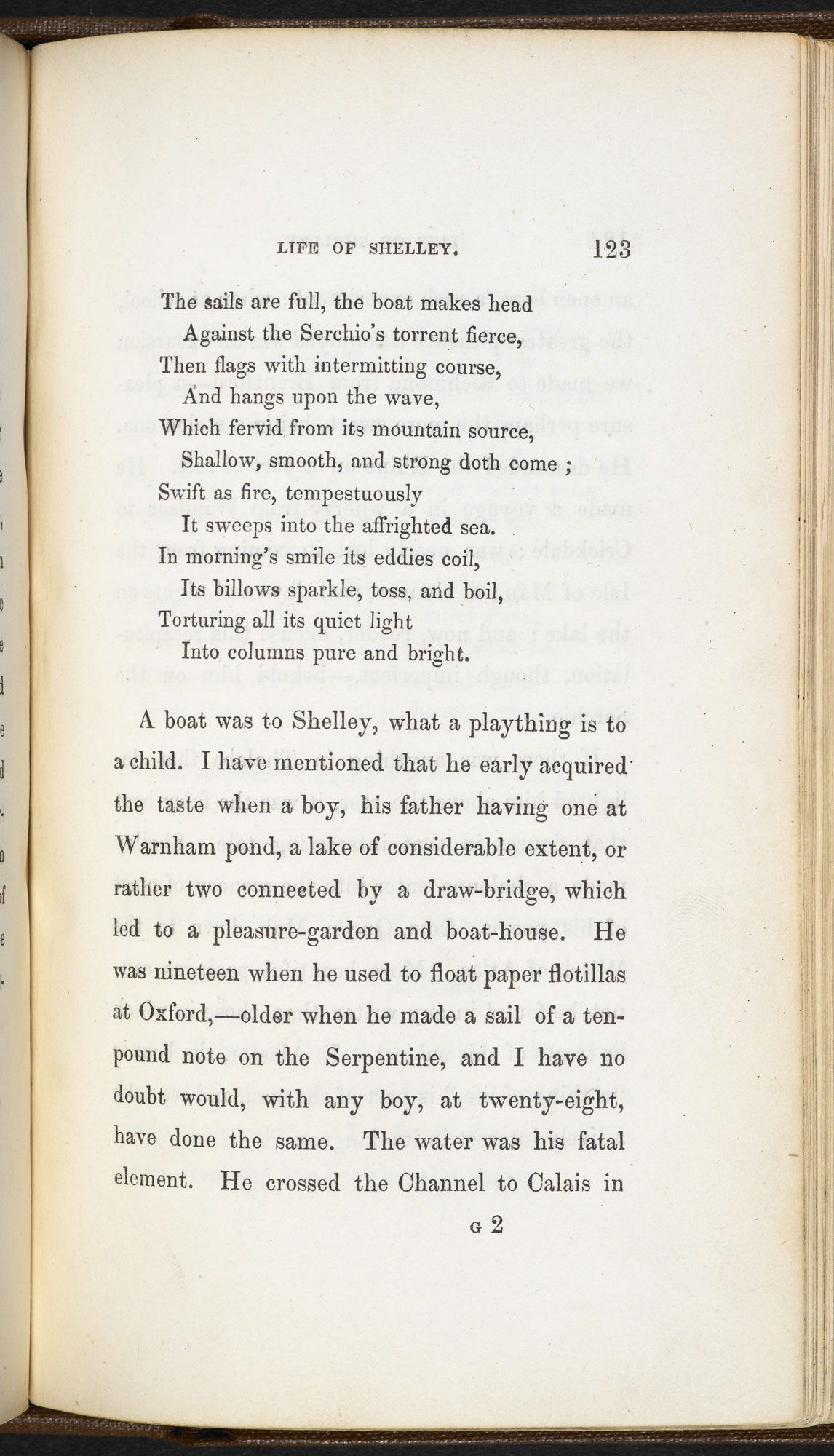The Life of Percy Bysshe Shelley by Thomas Medwin [page: vol. 2 p. 123]