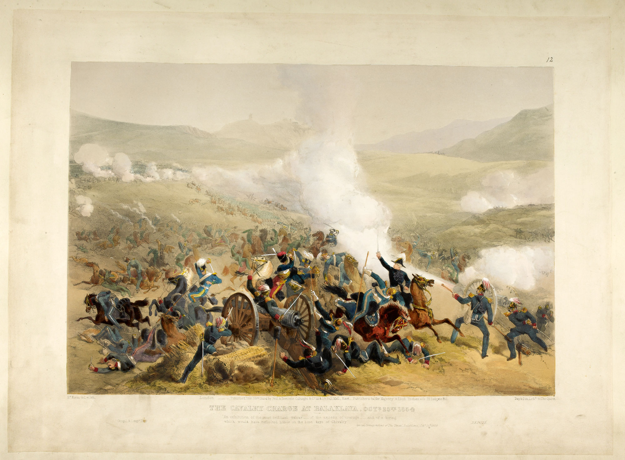 Edward Morin's illustration of the Charge of the Light Brigade [page: plate 12]