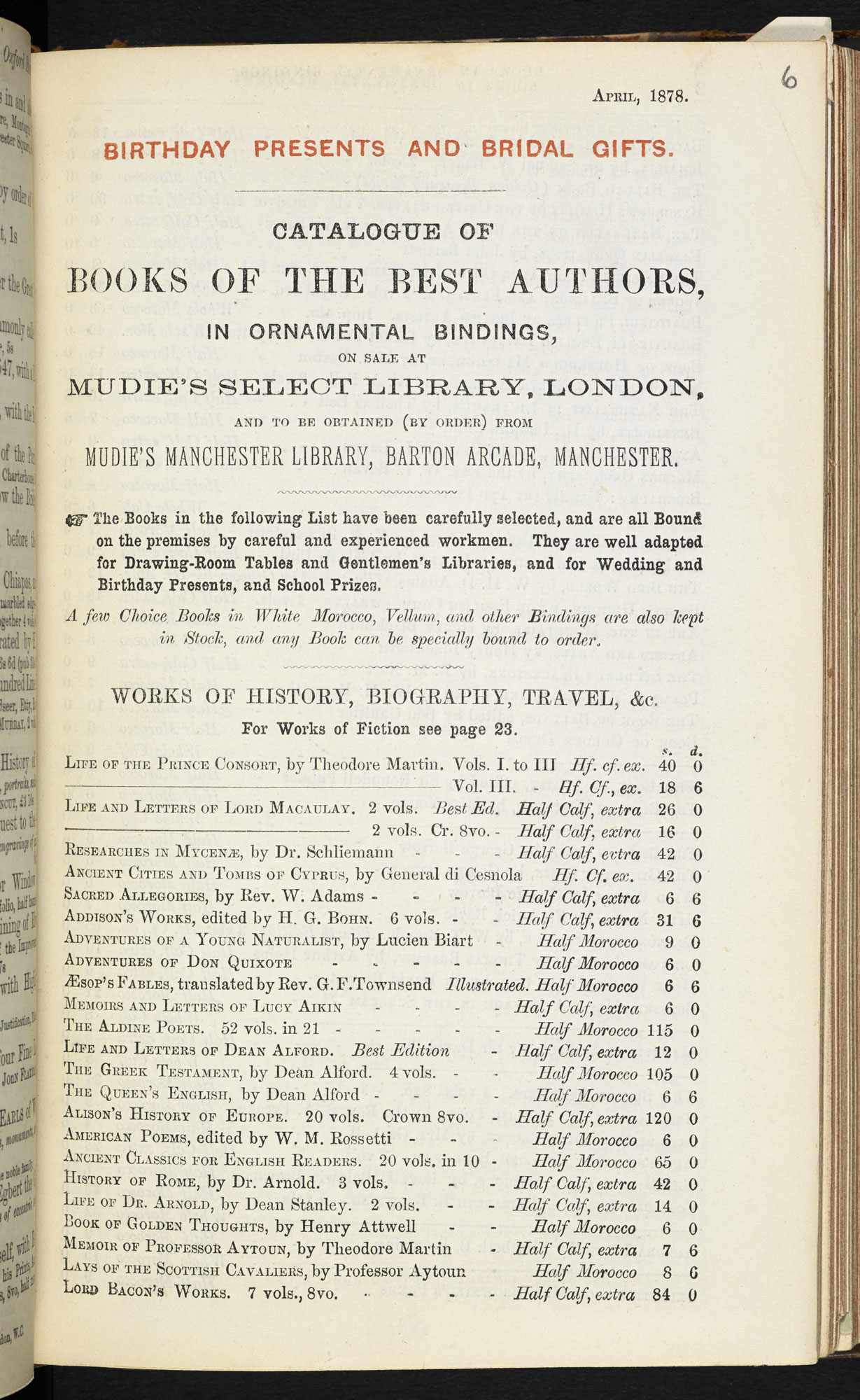 Catalogue of books from Mudie's Circulating Library [page: 1]